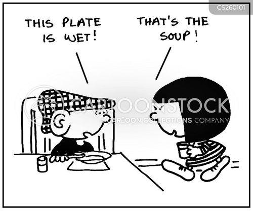 soup bowl cartoon