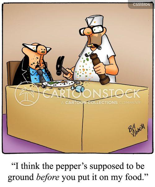 bad waiter cartoon
