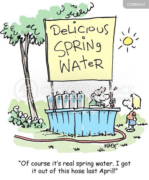 spring water cartoon