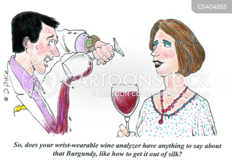 wine stains cartoon