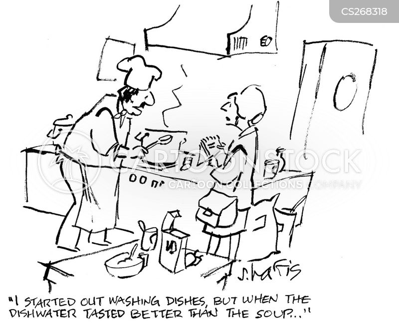 pot washers cartoon