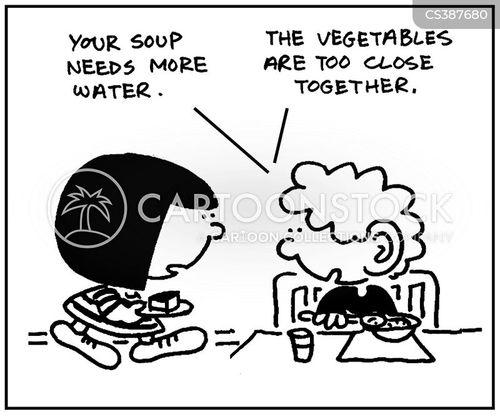 vegetable soups cartoon