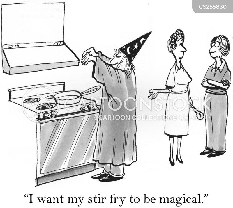 stir fry cartoon