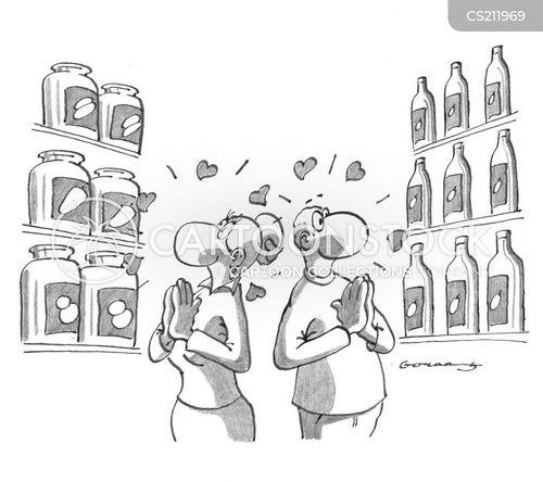 man and woman cartoon