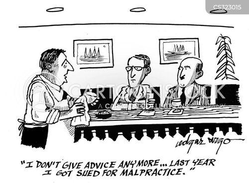 bar worker cartoon
