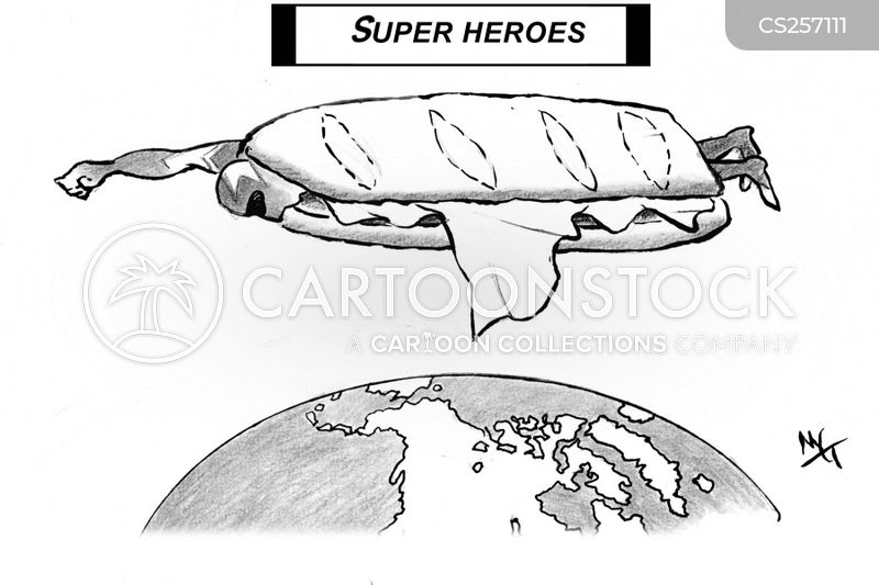 action heroes cartoon
