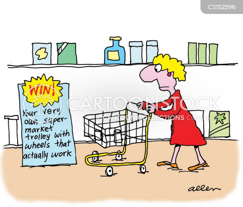 Shopping Trolleys Cartoons And Comics Funny Pictures From Cartoonstock