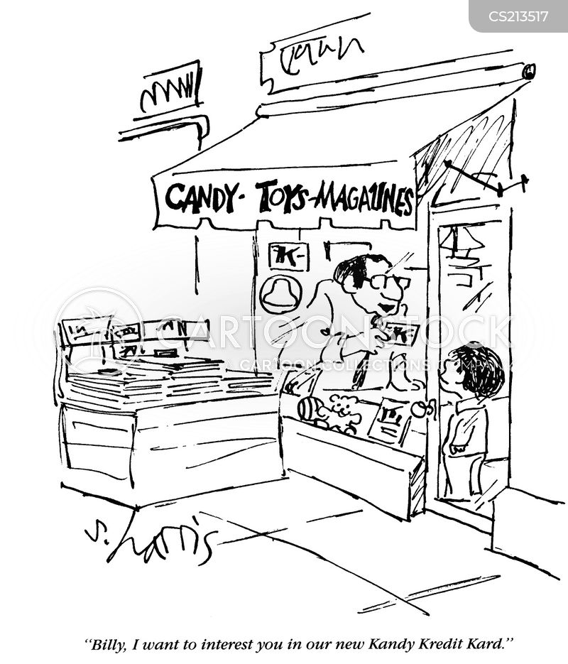 candy store cartoon