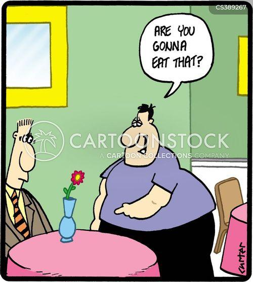 gluttonous cartoon