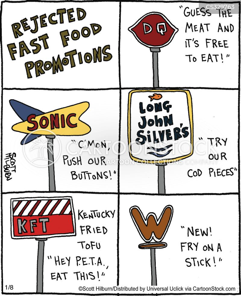 Funny Fast Food Cartoons Fast Food Outlets Cartoon 1 of