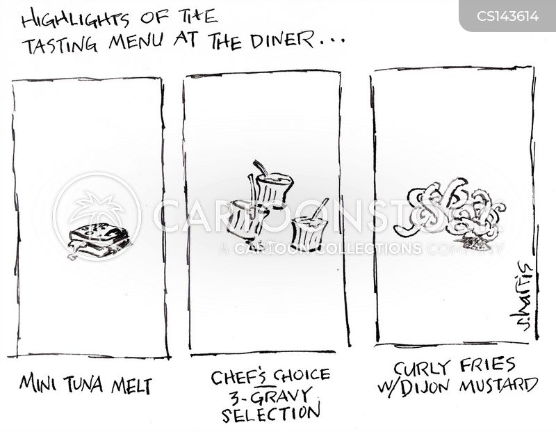 food connoisseurs cartoon