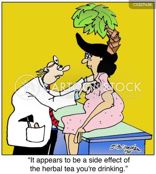 herbal tea cartoon