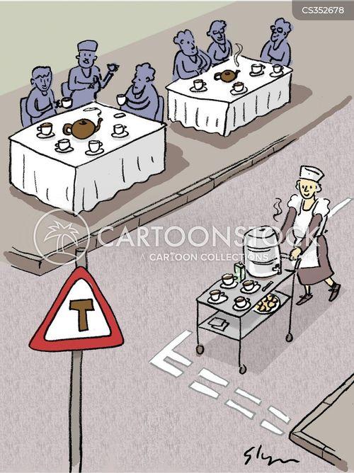 tea ladies cartoon