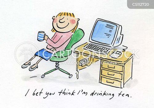 tea drinkers cartoon