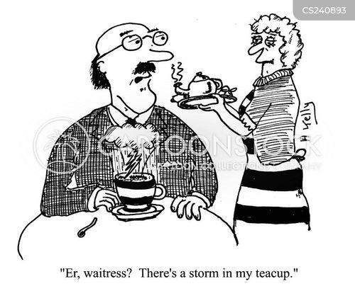 tea cups cartoon