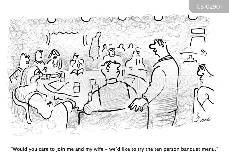 dine out cartoon
