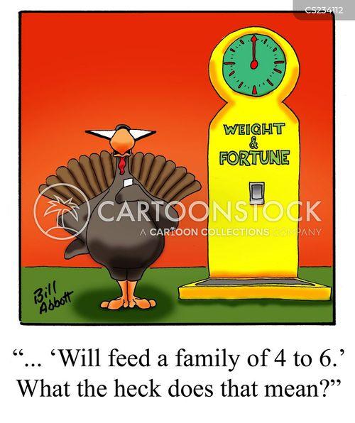roast turkeys cartoon