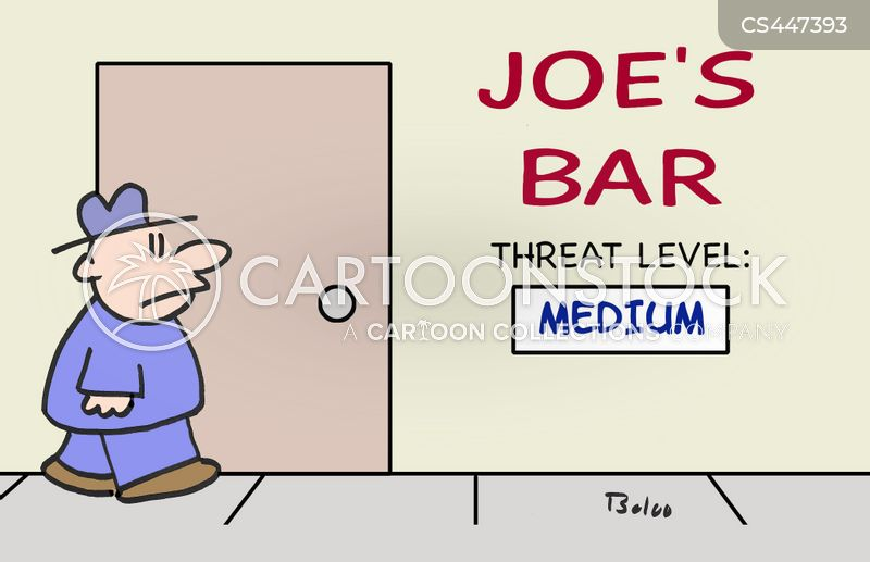 threat level cartoon