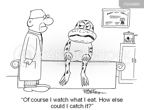 Cartoons und Karikaturen mit Frosch | {Französische küche comic 41}