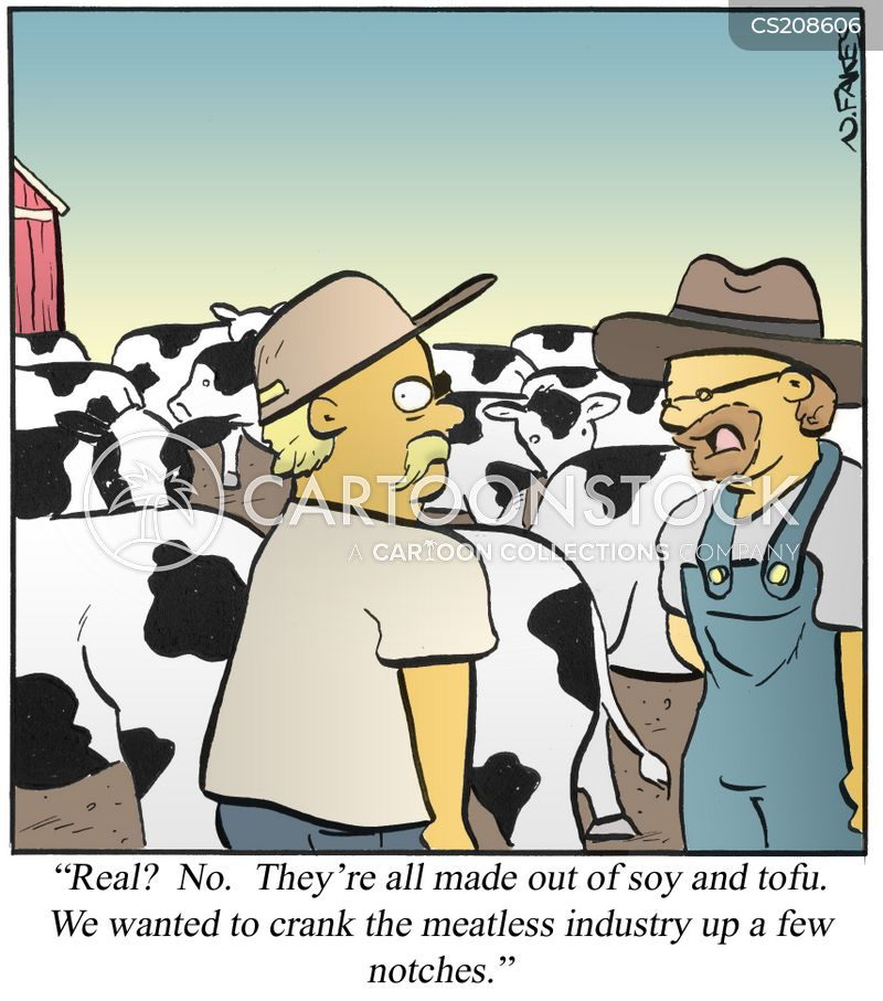 meat alternative cartoon