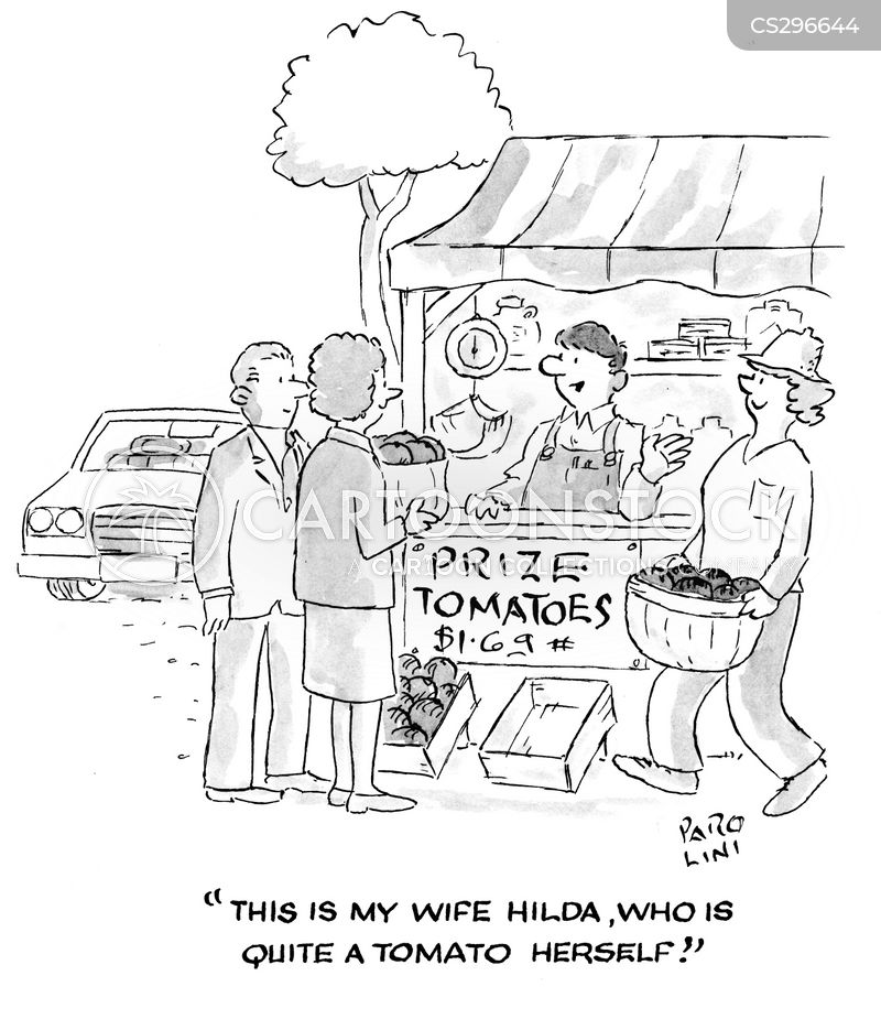 fruit and veg stall cartoon