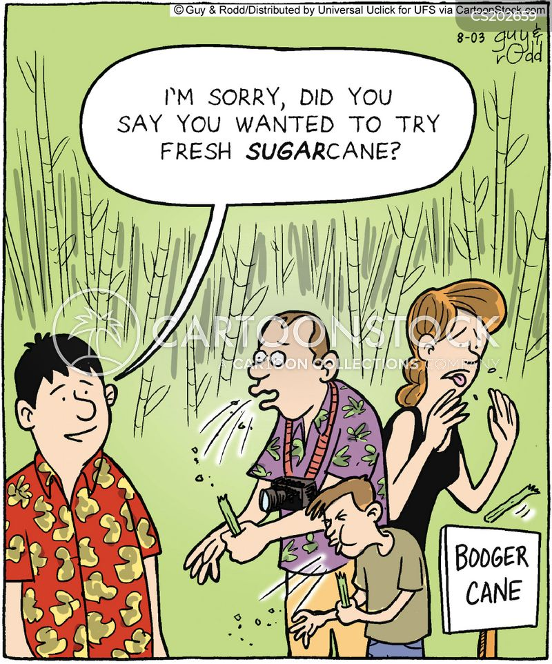 sugar cane cartoon