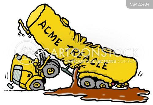 traffic crash cartoon
