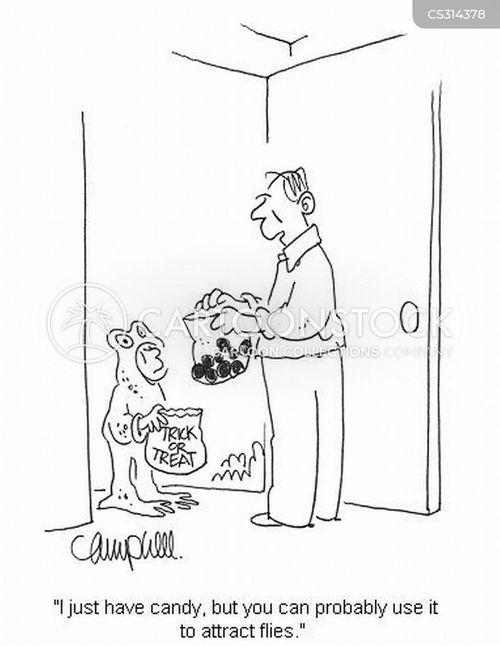 trick of treater cartoon