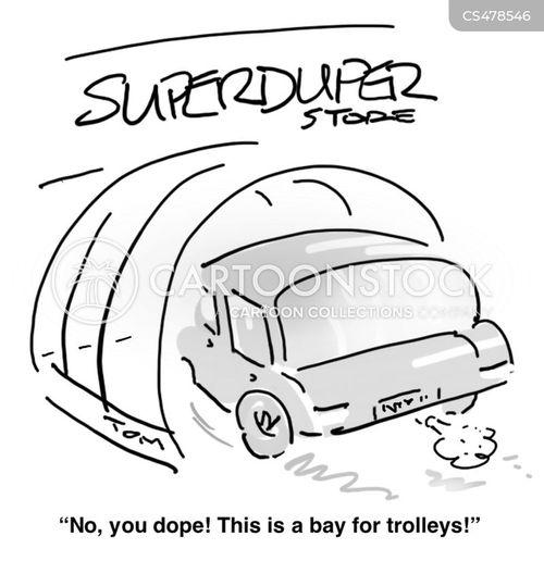 trolley bay cartoon