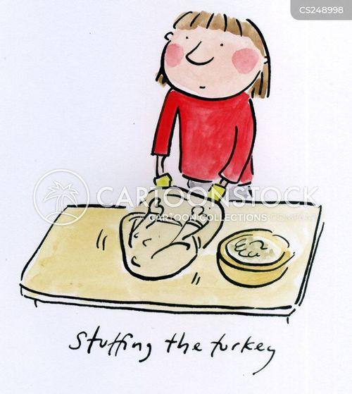 stuff the turkey cartoon