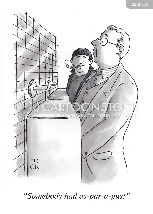 urinal cartoon