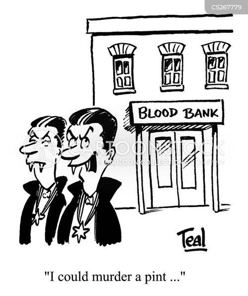 blood banks cartoon