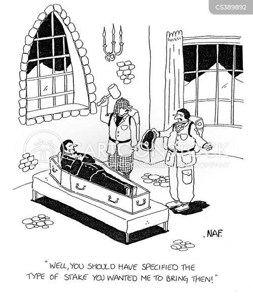 stakes cartoon