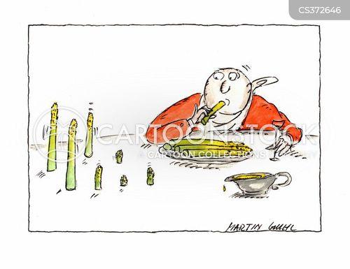 asparagus cartoon