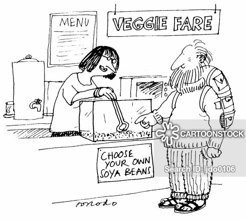 vegetarian restaurants cartoon