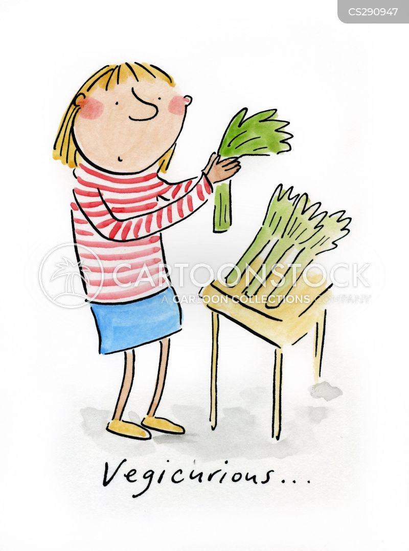 leeks cartoon