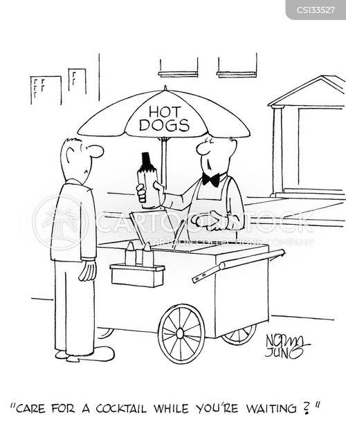 street stalls cartoon