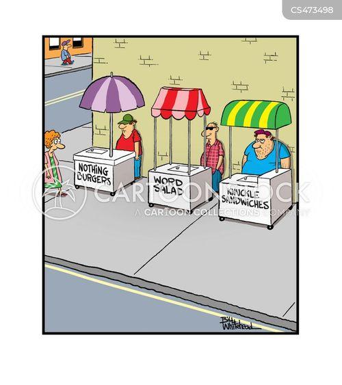 street cart cartoon