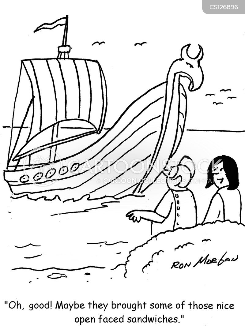 viking food cartoon