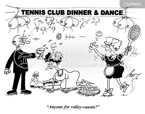 tennis clubs cartoon