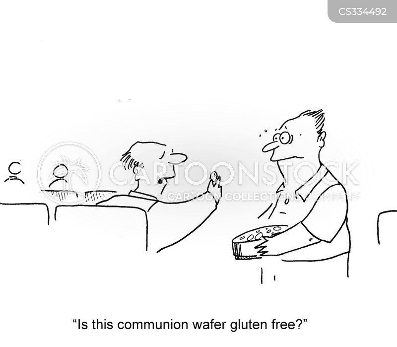communion wafers cartoon