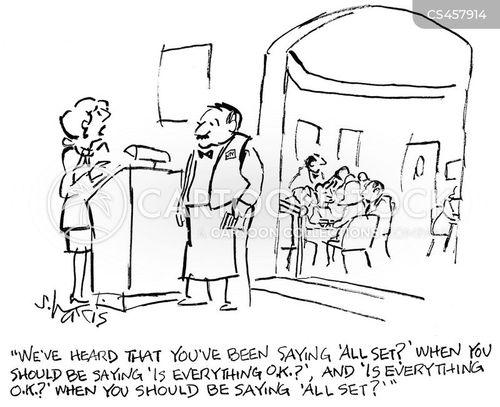 head waiter cartoon