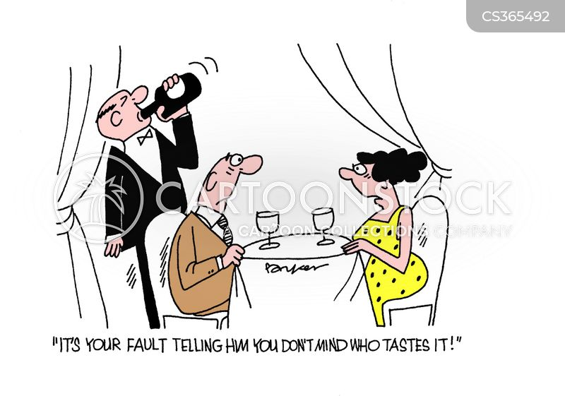 wined and dined cartoon