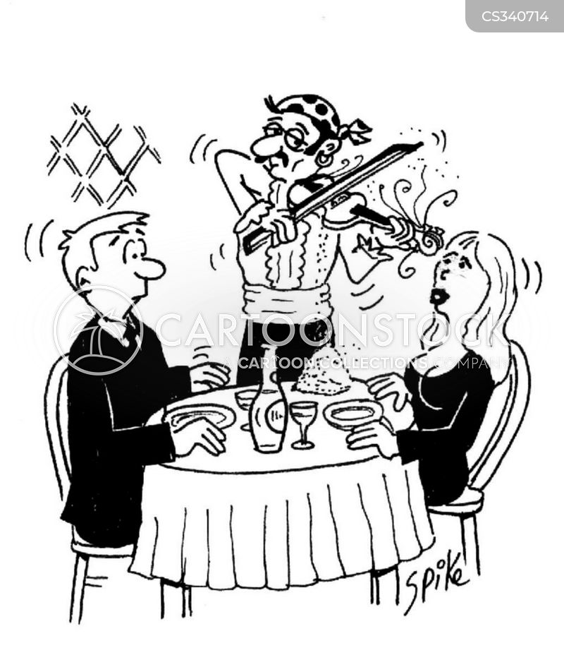 dinner for two cartoon