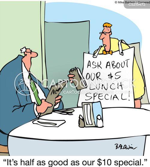 lunch specials cartoon