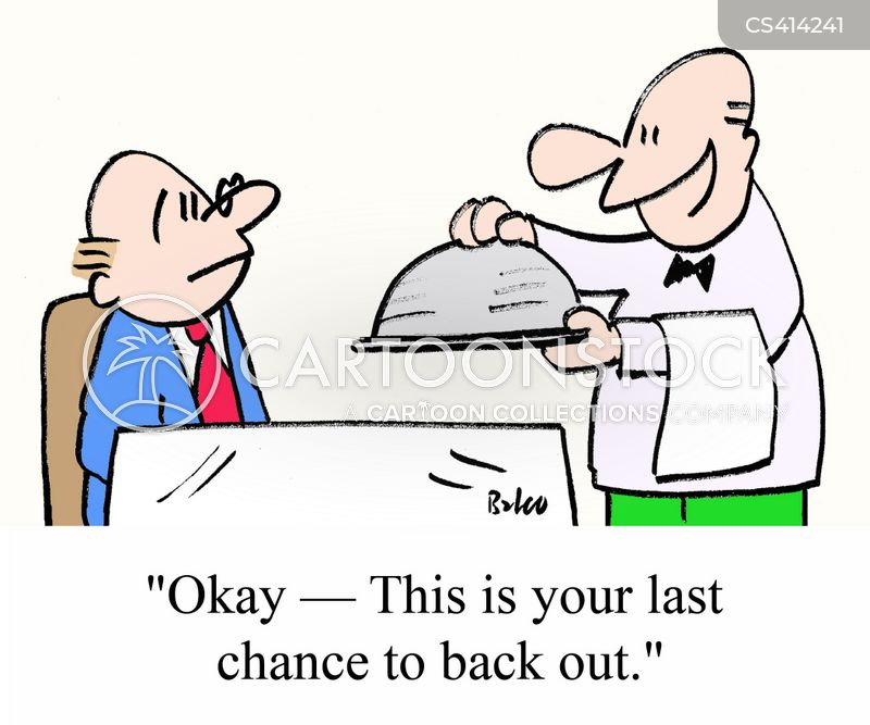 backing out cartoon
