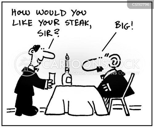 rare steaks cartoon