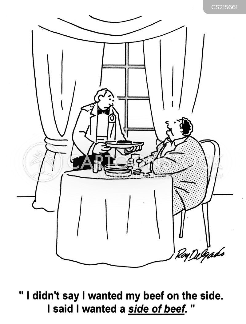 side dishes cartoon