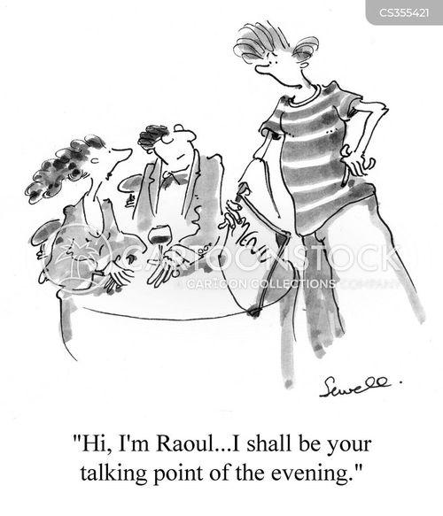 awkward conversation cartoon