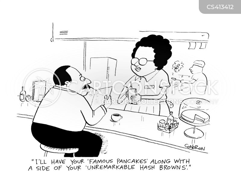 breakfast menu cartoon